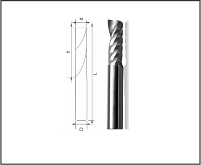 One Spiral Flute Bits